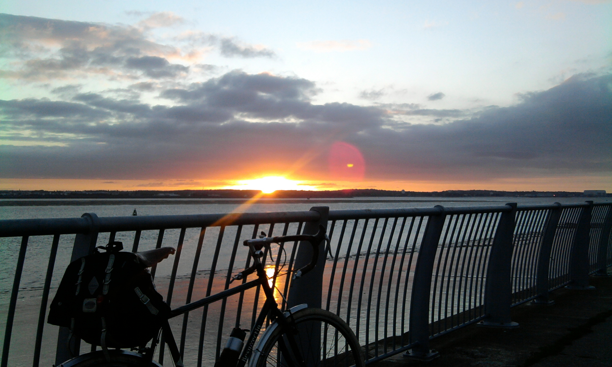 Bike? Check. Beautiful evening? Check. Happy Rider? O yes...